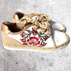 ALDO Embroidered Shoes Woven Sneakers Size 6.5